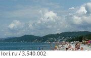 Купить «Морской пляж, таймлапс», видеоролик № 3540002, снято 29 июля 2009 г. (c) Losevsky Pavel / Фотобанк Лори