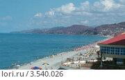 Купить «Людный пляж днем, таймлапс», видеоролик № 3540026, снято 29 июля 2009 г. (c) Losevsky Pavel / Фотобанк Лори