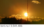Купить «Останкинская башня на закате», видеоролик № 3541406, снято 25 сентября 2009 г. (c) Losevsky Pavel / Фотобанк Лори
