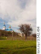 Церковь стоящая на холме. Стоковое фото, фотограф Михаил Бессмертный / Фотобанк Лори