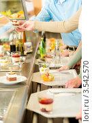 Купить «Шведский стол», фото № 3542570, снято 6 апреля 2012 г. (c) CandyBox Images / Фотобанк Лори