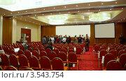 Купить «Зал для конференций», видеоролик № 3543754, снято 27 декабря 2009 г. (c) Losevsky Pavel / Фотобанк Лори