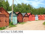 Купить «Гаражи», эксклюзивное фото № 3545994, снято 20 мая 2012 г. (c) АЛЕКСАНДР МИХЕИЧЕВ / Фотобанк Лори