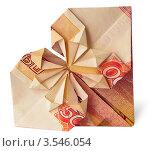 Купюра 5000 рублей. Оригами. Стоковое фото, фотограф Anna Bukharina / Фотобанк Лори