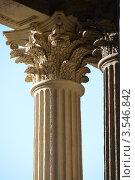 Капители коринфских колонн Казанского собора. Петербург (2012 год). Стоковое фото, фотограф Александр Алексеев / Фотобанк Лори