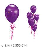Фиолетовые шарики на белом фоне. Стоковая иллюстрация, иллюстратор Dvarg / Фотобанк Лори