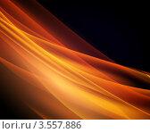Абстрактный фон с золотистыми волнами. Стоковая иллюстрация, иллюстратор Михаил Моросин / Фотобанк Лори