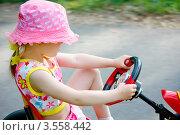 Купить «Девочка на игрушечной машине», фото № 3558442, снято 1 июня 2012 г. (c) Хайрятдинов Ринат / Фотобанк Лори