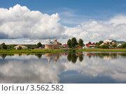 Пейзаж на городской набережной. Стоковое фото, фотограф Юрий Горид / Фотобанк Лори