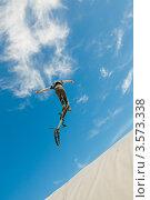 Купить «Слоуп-стайл. Тренировка прыжков», эксклюзивное фото № 3573338, снято 27 мая 2012 г. (c) Ольга Визави / Фотобанк Лори
