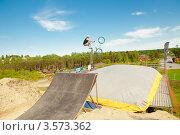 Купить «Слоуп-стайл. Тренировка прыжков», эксклюзивное фото № 3573362, снято 27 мая 2012 г. (c) Ольга Визави / Фотобанк Лори