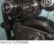 Шестерни печатной машины. Стоковое фото, фотограф Алексей Куртеев / Фотобанк Лори