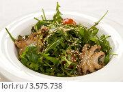 Купить «Салат Умай (с осьминогами) японская кухня», фото № 3575738, снято 12 февраля 2012 г. (c) Юлий Шик / Фотобанк Лори