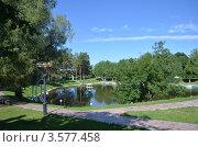 Парк в городе Шиханы, Саратовская область. Стоковое фото, фотограф Анатолий Уткин / Фотобанк Лори