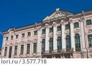 Купить «Фрагмент фасада Строгановского дворца. Санкт-Петербург», фото № 3577718, снято 7 августа 2011 г. (c) Николай Коржов / Фотобанк Лори