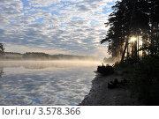 Рассвет на Каме. Стоковое фото, фотограф Юлия Ворожцова / Фотобанк Лори