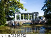Купить «Мост с колоннами», фото № 3586762, снято 12 сентября 2009 г. (c) Михаил Смиров / Фотобанк Лори