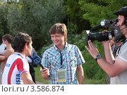 Купить «Чемпионат Европы по маунтинбайку в Москве. Соревнования среди мужчин в возрасте до 23 лет», фото № 3586874, снято 9 июня 2012 г. (c) Stockphoto / Фотобанк Лори