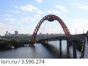 Купить «Вантовый мост в Москве», фото № 3590274, снято 9 июня 2012 г. (c) Вячеслав Аверин / Фотобанк Лори