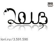 2013-год змеи. Стоковая иллюстрация, иллюстратор Юлия Копачева / Фотобанк Лори