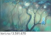 Сказочный лес. Стоковая иллюстрация, иллюстратор Калятина Наталья / Фотобанк Лори