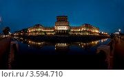 МГТУ Баумана ночью. Стоковое фото, фотограф Игорь Демидов / Фотобанк Лори