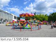 Детская площадка, аттракцион (2012 год). Редакционное фото, фотограф Любовь Лапухина / Фотобанк Лори