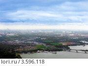 Купить «Вид на город из самолета», фото № 3596118, снято 31 мая 2012 г. (c) Vitas / Фотобанк Лори