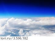 Купить «Вид из самолета на облака», фото № 3596182, снято 31 мая 2012 г. (c) Vitas / Фотобанк Лори