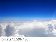 Купить «Синее небо и белые облака, вид из самолёта», фото № 3596186, снято 31 мая 2012 г. (c) Vitas / Фотобанк Лори