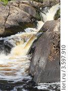 Купить «Рускеальский водопад», фото № 3597910, снято 19 июля 2011 г. (c) Андрей Жухевич / Фотобанк Лори