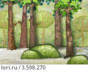 Лес. Иллюстрация. Стоковая иллюстрация, иллюстратор Калятина Наталья / Фотобанк Лори