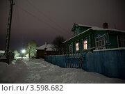 Ночь в деревне. Стоковое фото, фотограф Артем Кашканов / Фотобанк Лори
