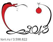 Купить «Рамка с коброй к новому 2013 году», иллюстрация № 3598822 (c) Татьяна Петрова / Фотобанк Лори