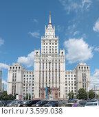 Сталинская высотка на площади Красные Ворота, Москва (2012 год). Редакционное фото, фотограф Сергей Соболев / Фотобанк Лори