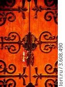Купить «Детали старой двери в Шанхае», фото № 3608490, снято 27 октября 2008 г. (c) Francesco Perre / Фотобанк Лори