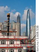 Купить «Шанхайская архитектура. Городской пейзаж», фото № 3608538, снято 21 августа 2010 г. (c) Francesco Perre / Фотобанк Лори