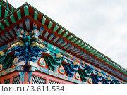Декор Дворца Хамбо ламы Итигэлова в Иволгинском дацане в Бурятии (2007 год). Стоковое фото, фотограф Солодовникова Елена / Фотобанк Лори