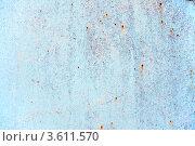 Купить «Старый окрашенный металл с ржавчиной», фото № 3611570, снято 26 апреля 2012 г. (c) Яков Филимонов / Фотобанк Лори