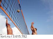 Купить «Пляжный волейбол», фото № 3615782, снято 18 сентября 2009 г. (c) Александр Скопинцев / Фотобанк Лори