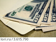 Купить «Доллары в конверте», фото № 3615790, снято 28 апреля 2010 г. (c) Александр Скопинцев / Фотобанк Лори