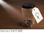"Купить «Монетки в банке с ярлыком ""Машина""», фото № 3617450, снято 24 августа 2011 г. (c) Monkey Business Images / Фотобанк Лори"
