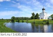Купить «Церковь Покрова на Нерли, Боголюбово, Владимирская область», фото № 3630202, снято 19 августа 2019 г. (c) ElenArt / Фотобанк Лори