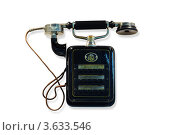 Купить «Старинный настенный телефон с трубкой», фото № 3633546, снято 18 ноября 2010 г. (c) Losevsky Pavel / Фотобанк Лори