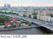 Купить «Вид на Москву с высоты», фото № 3635206, снято 15 мая 2011 г. (c) Losevsky Pavel / Фотобанк Лори