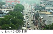Вид на проезжую часть в Пекине, таймлапс (2012 год). Стоковое видео, видеограф Гурьянов Андрей / Фотобанк Лори