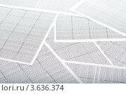 Купить «Листы бумаги с цифровыми таблицами», фото № 3636374, снято 18 февраля 2020 г. (c) Сергей Дашкевич / Фотобанк Лори