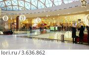 Покупатели в торговом центре, таймлапс. Стоковое видео, видеограф Максим Шатохин / Фотобанк Лори