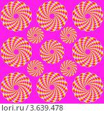 Лиловый фон с оптической иллюзией вращения, выполненной из многоцветных овалов. Стоковая иллюстрация, иллюстратор Татьяна Скрипниченко / Фотобанк Лори