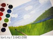 Купить «Пейзаж, выполненный акварелью», фото № 3643098, снято 3 июля 2012 г. (c) Евгения Плешакова / Фотобанк Лори